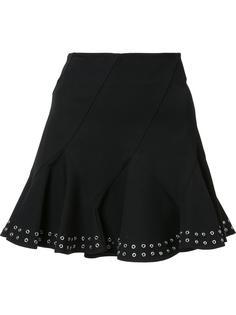 юбка с отделкой люверсами Derek Lam 10 Crosby