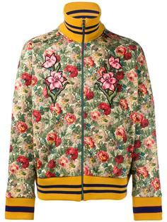 куртка с цветочным принтом   Gucci