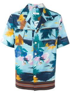рубашка с тропическим узором Valentino