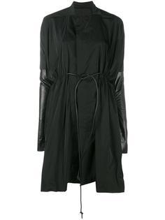 пальто с кожаными панелями Rick Owens