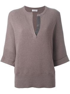 свитер с V-образным разрезом Brunello Cucinelli