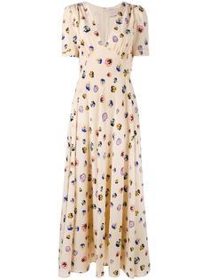 платье с цветочным рисунком Christopher Kane