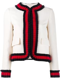 укороченный пиджак с контрастной окантовкой Gucci