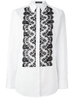 рубашка с кружевным нагрудником Dolce & Gabbana