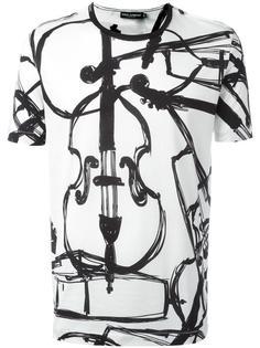 футболка с принтом с виолончелью Dolce & Gabbana