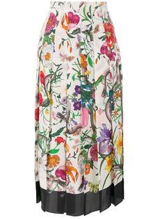 юбка с цветочным рисунком Gucci