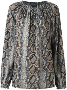 блузка со змеиным узором на молнии Tom Ford