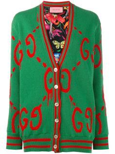 двусторонний кардиган с логотипами GucciGhost Gucci