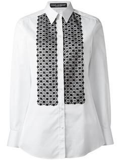 рубашка с нагрудной вышивкой Dolce & Gabbana