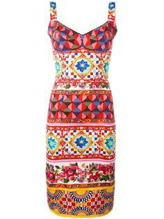 обтягивающее платье с узором Mambo Dolce & Gabbana