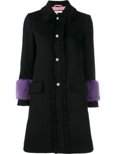 пальто с контрастными манжетами   Gucci