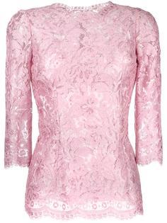 блузка с цветочным кружевом Dolce & Gabbana