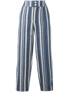 полосатые парусиновые брюки Chloé