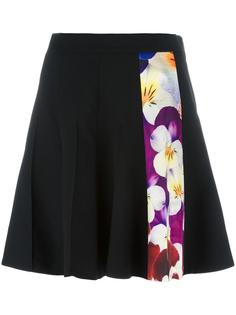 pansy stripe A-line skirt Christopher Kane