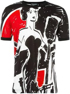 футболка с принтом музыканта Dolce & Gabbana