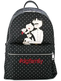 рюкзак с заплатками Volcano DG family Dolce & Gabbana