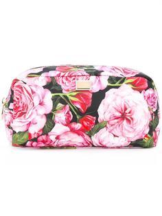 косметичка с принтом роз  Dolce & Gabbana