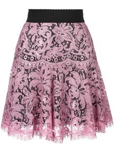 кружевная юбка со складками Dolce & Gabbana