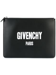 клатч Paris с принтом логотипа Givenchy