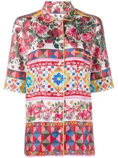 пижамный топ с цветочным узором Dolce & Gabbana