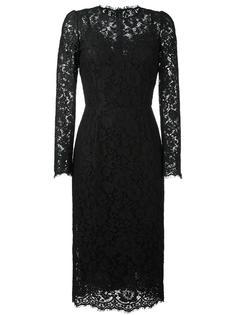 кружевное приталенное платье Dolce & Gabbana