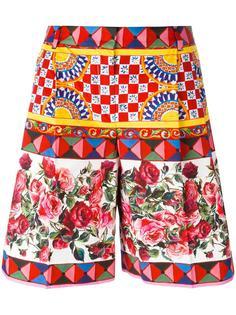 шорты с узором Mambo  Dolce & Gabbana
