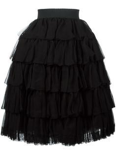 многослойное платье с оборками Dolce & Gabbana