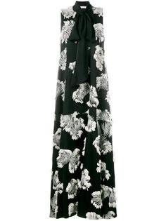 жаккардовое вечернее платье с пальмовыми листьями Chloé