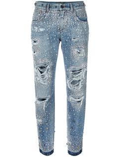 джинсы бойфренда с кристаллами  Dolce & Gabbana