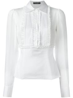 рубашка с рюшами Dolce & Gabbana