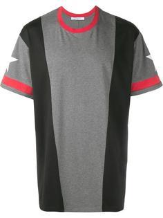 футболка с панельным дизайном и звездами Givenchy