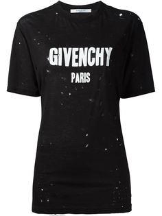 футболка с принтом логотипа   Givenchy