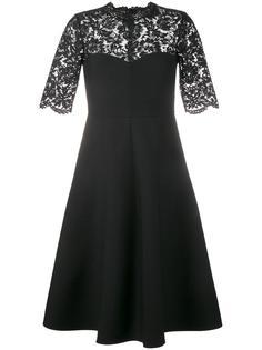 креповое платье с кружевной отделкой Valentino