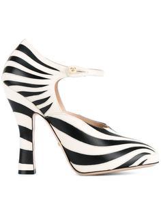 полосатые туфли Gucci