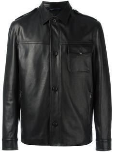 кожаная куртка с застежкой на кнопки Lanvin