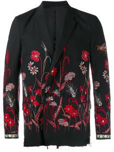 блейзер с цветочной вышивкой Gucci
