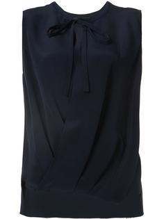блузка без рукавов с драпировками Derek Lam