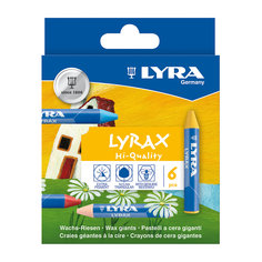 Утолщенные восковые карандаши, 6 шт. Lyra