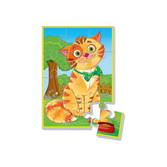 """Мягкие пазлы  А5 """"Котик"""", Vladi Toys"""