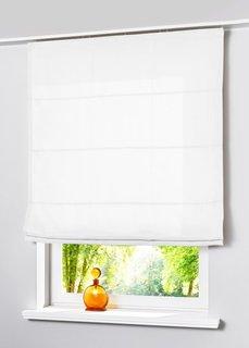 Римская штора Уни, петли (белоснежный) Bonprix