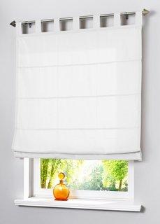 Римская штора Уни, Шина с лентой велкро (белоснежный) Bonprix