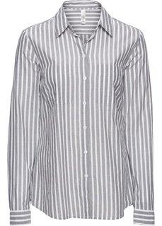 Блуза-рубашка в полоску (ледниково-синий/белый в полоск) Bonprix