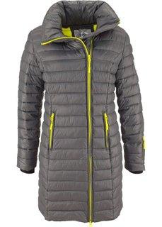 Удлиненная куртка с капюшоном (черный/горячий ярко-розовый) Bonprix
