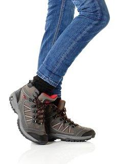 Трекинговые ботинки (черный/зеленый/серый) Bonprix
