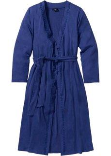 Трикотажный халат (темно-синий) Bonprix