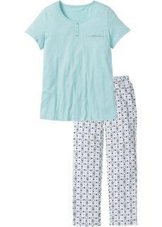 Пижама (пастельная аква с рисунком) Bonprix