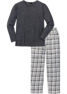 Пижама (антрацитовый меланж в клетку) Bonprix