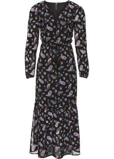 Длинное платье в богемном стиле (кленово-красный с рисунком) Bonprix
