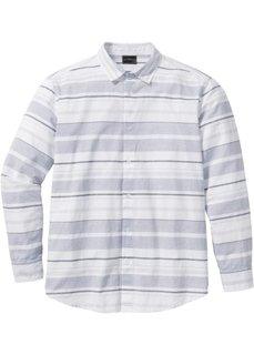 Рубашка Regular Fit в полоску (белый/серый в полоску) Bonprix