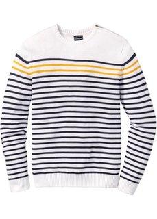 Пуловер Slim Fit (темно-синий/темно-красный в по) Bonprix